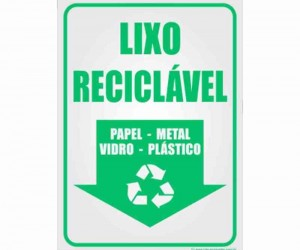 "ETIQUETA SELETIVA ""RECICLAVEL"""